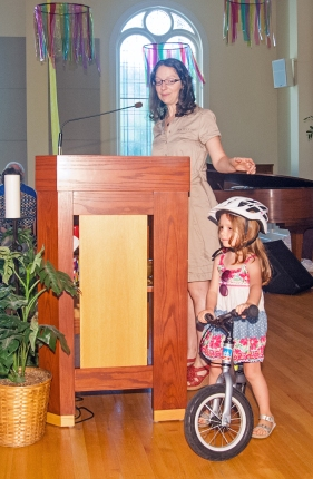 Kidical Mass announce with visual aid